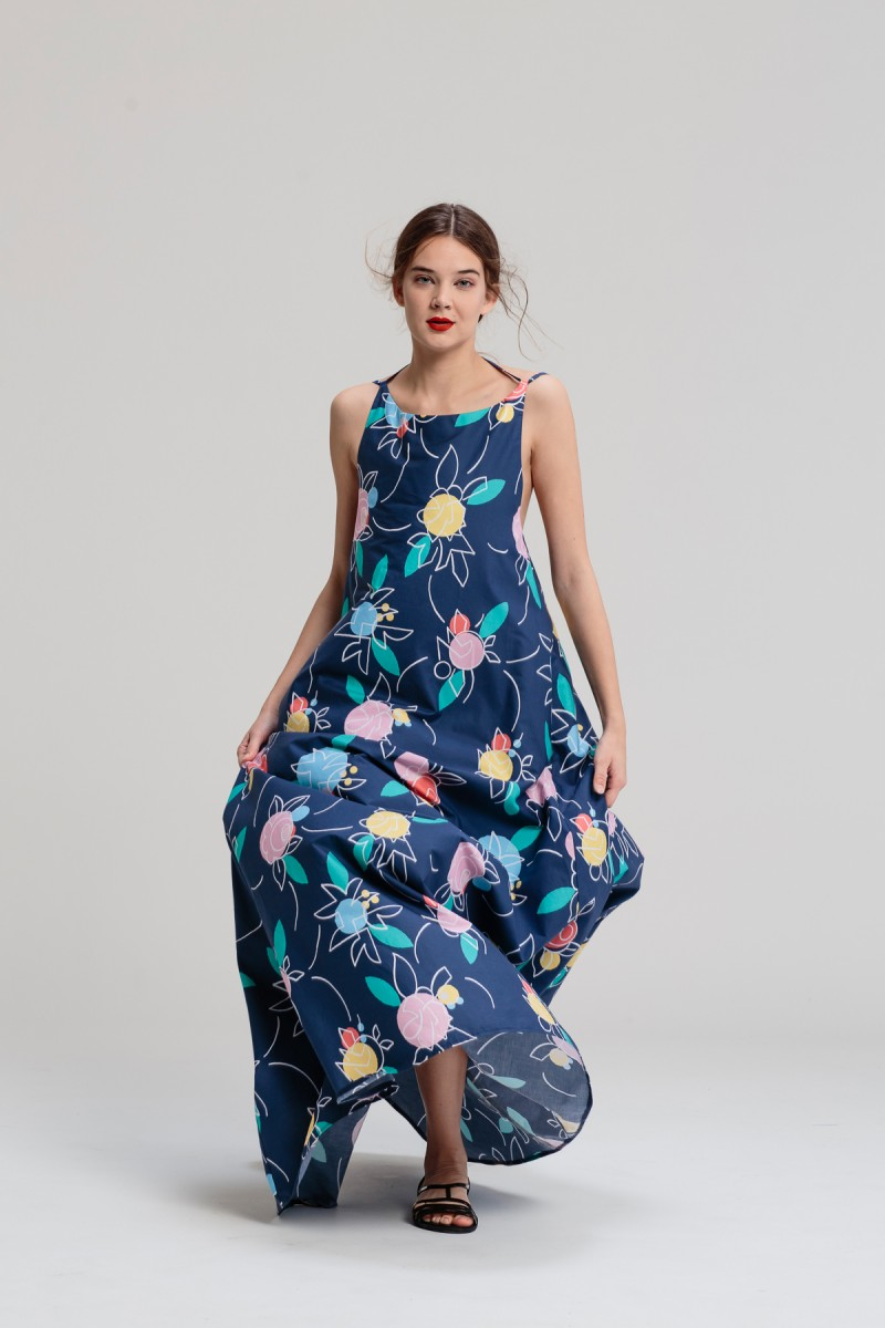 Maxi šaty Fullove ruže — LS. Lenka Sršňová ab2602dfe0c
